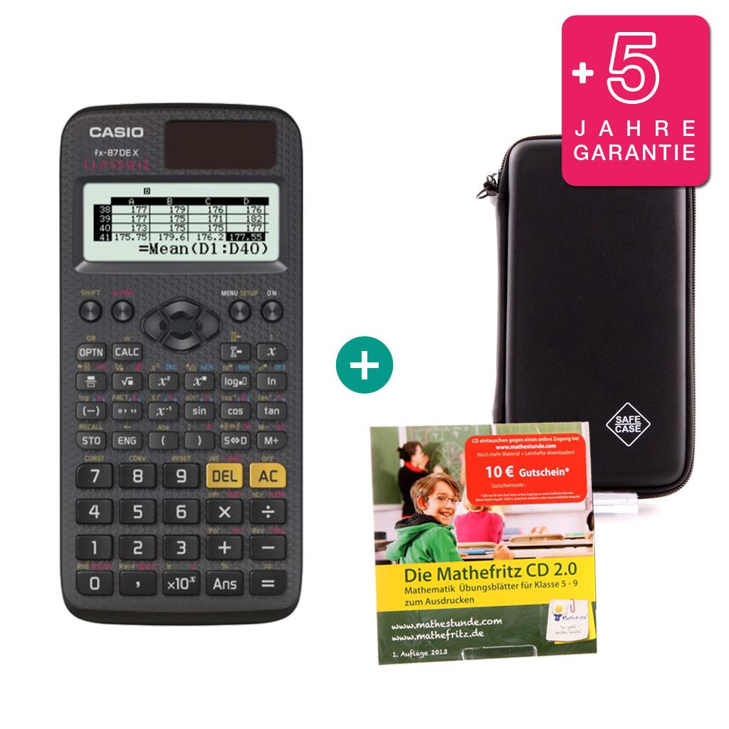 Schutztasche für Taschenrechner von Casio für Modell FX 82 Solar II