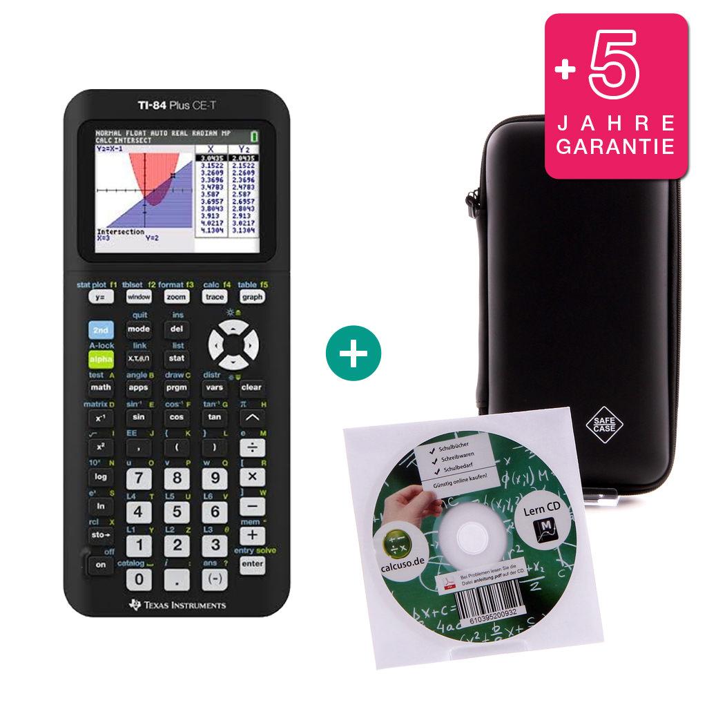 Lern-CD und Garantie TI 84 Plus CE-T Taschenrechner Grafikrechner