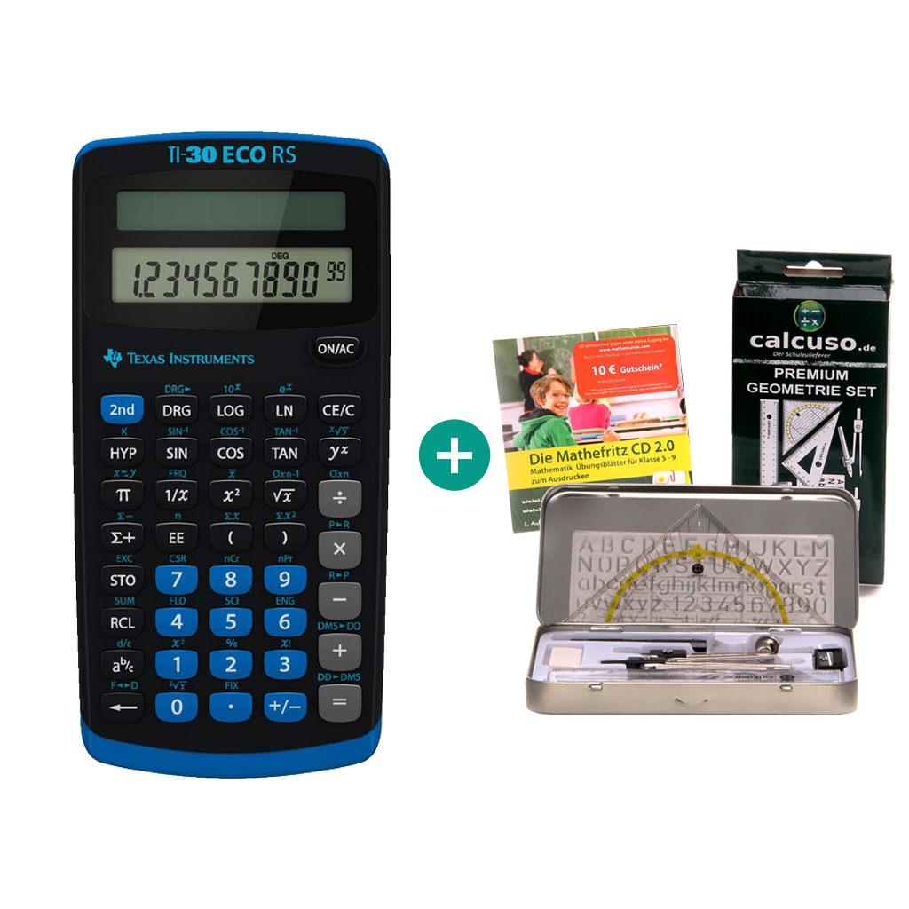 MatheFritz Lern-CD und Garantie TI Little Professor Taschenrechner