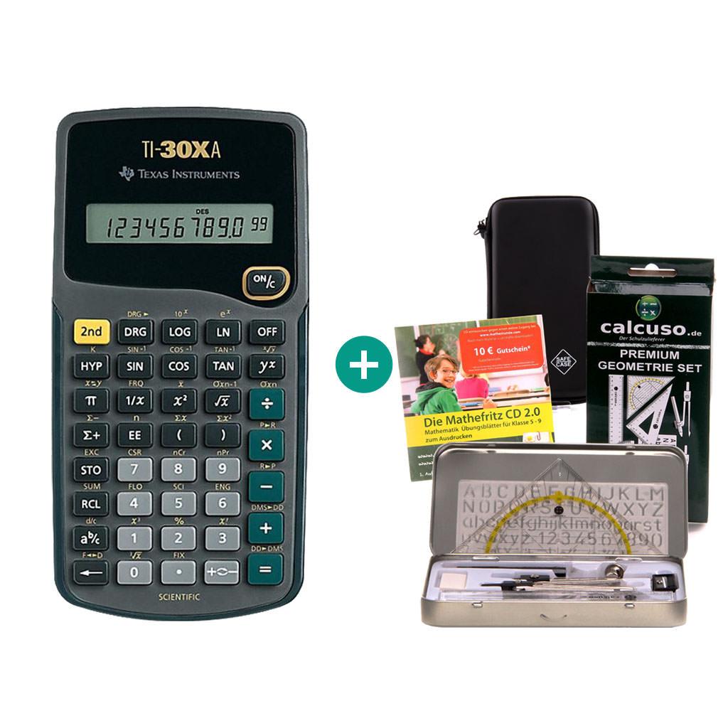 Ti 30 Xa Taschenrechner Schutztasche Geometrieset Lern Cd Ebay