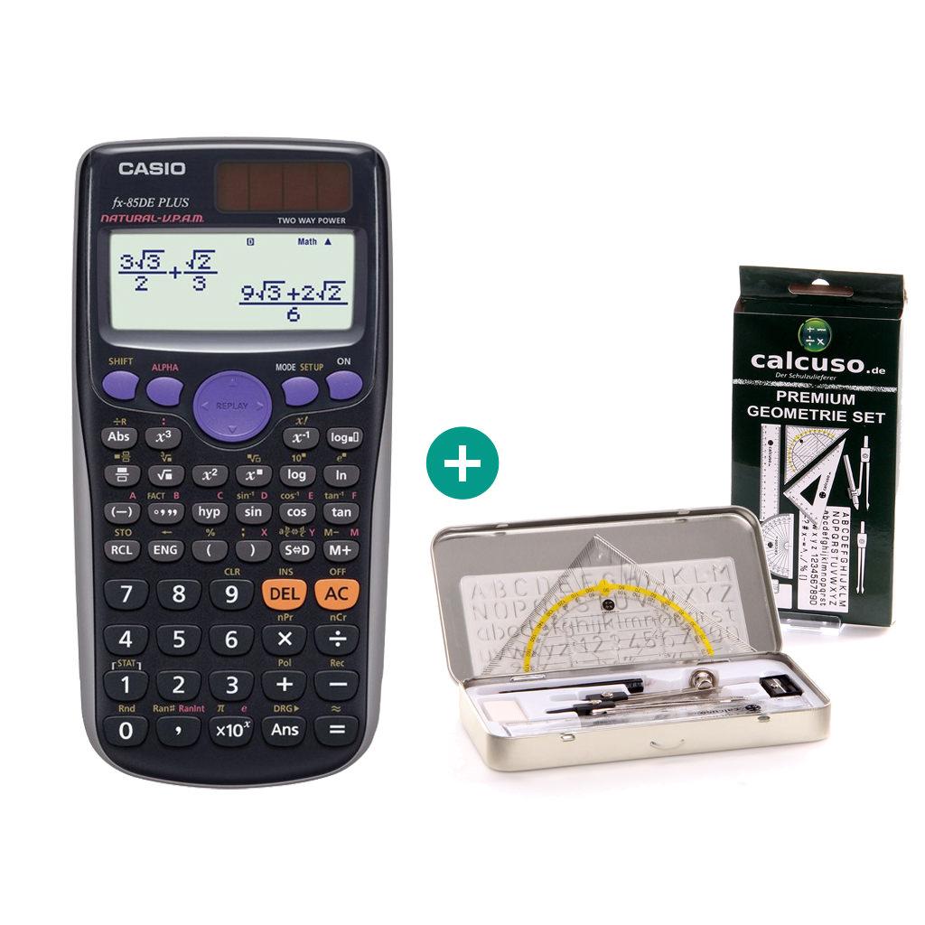 Premium GeometrieSet Casio FX 991 ES Plus Taschenrechner