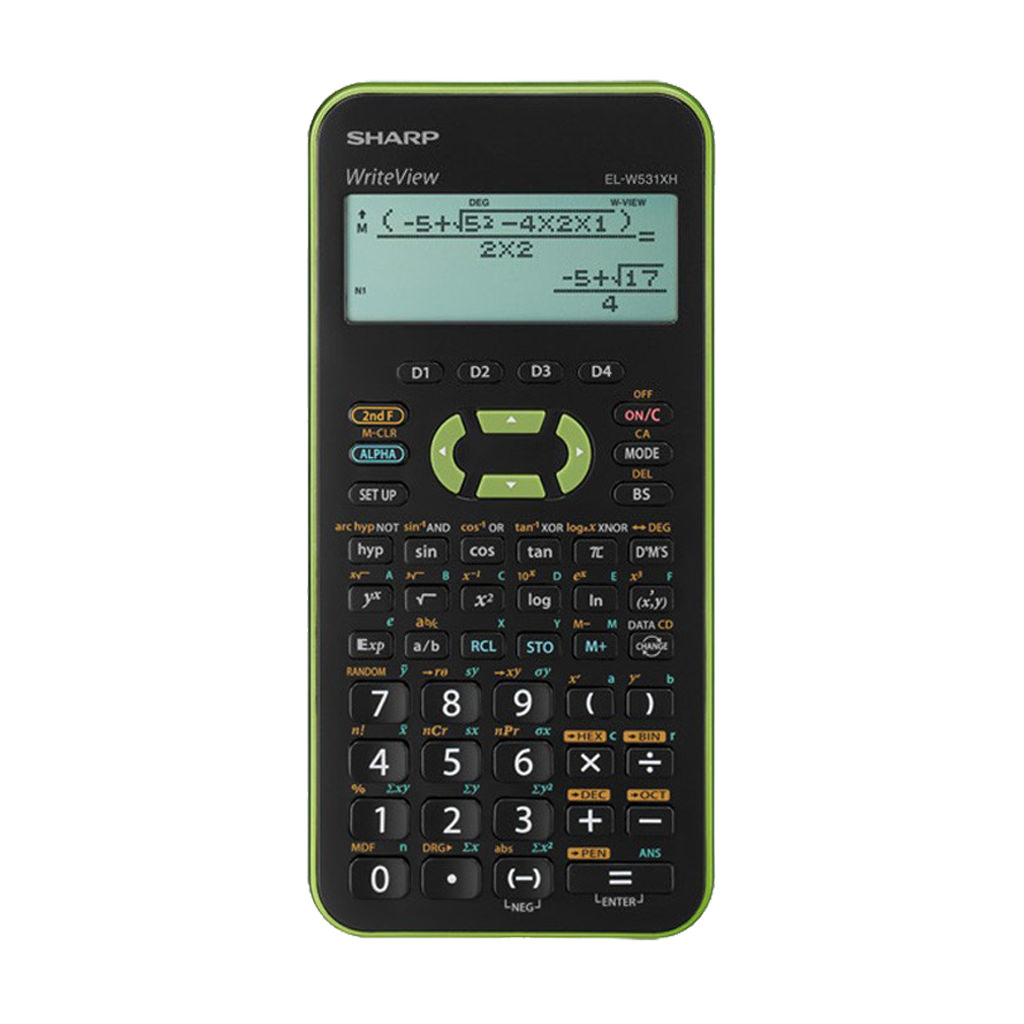 Sharp EL W531 XH Grün Taschenrechner Schutztasche und Garantie